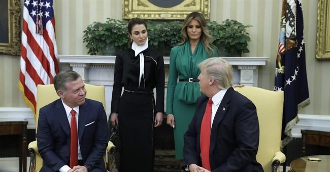Melania Trump, Jordan's queen tour girls-only charter school