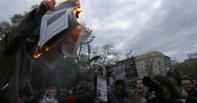 Serbs protest for 4th day against powerful president-elect