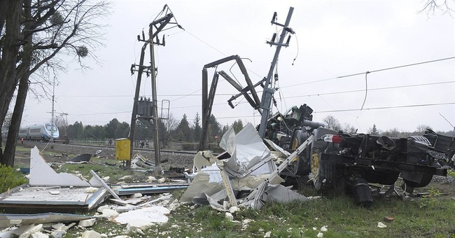Fast train hits Polish truck; 19 hospitalized, 7 seriously