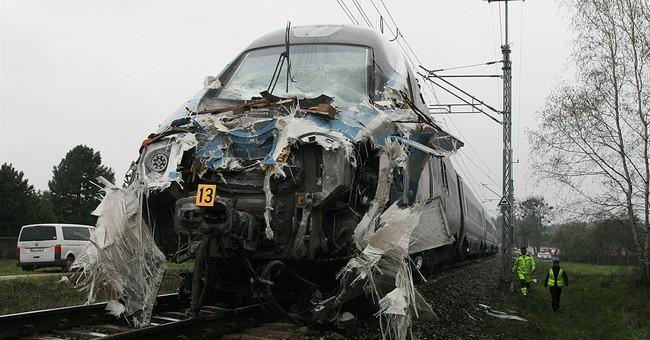 Fast train hits Polish truck; 19 hospitalized, 7 seriously