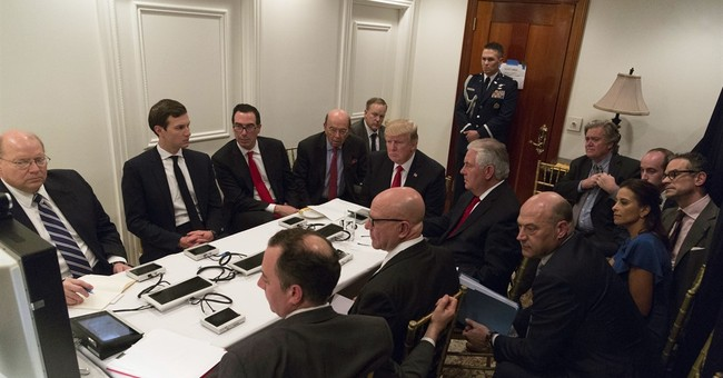Trump turns from resigned to resolved after Syria attack