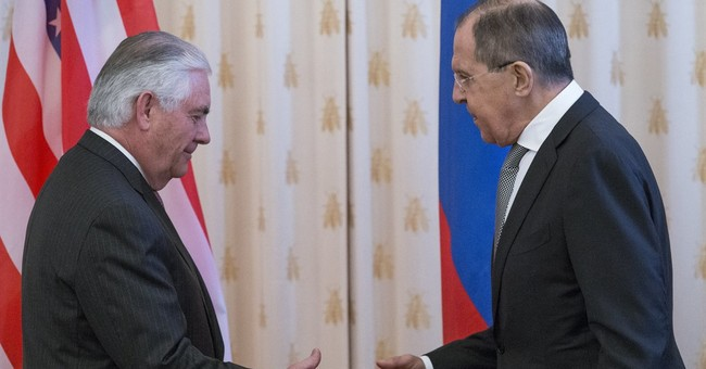 Russian Foreign Minister Meets With Tillerson, Says They Inherited 'Time Bombs' From Obama Admin