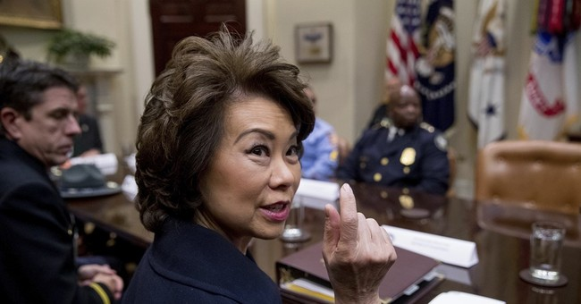 Watch: Transportation Secretary Elaine Chao Tells Protesters to Leave Her Husband Mitch McConnell Alone