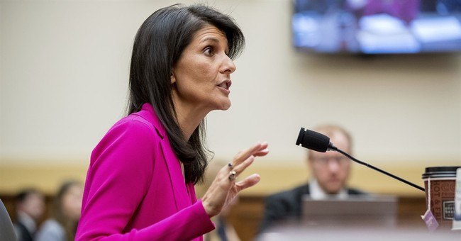 Nikki Haley Responds to Question of U.S. 'Diminished Global Standing': U.N. Knows the U.S. is 'Leading Again'