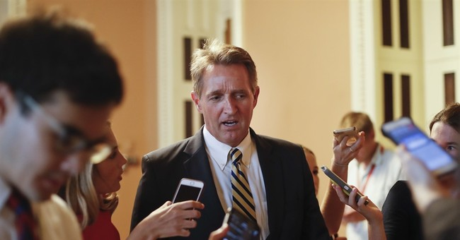 Uh Oh: Poll Has Sen. Jeff Flake Trailing GOP Primary Challenger By 14 Points