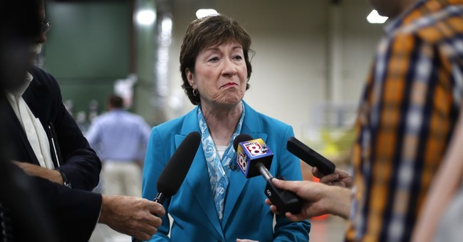 Republican Collins will stay in US Senate, focused on healthcare