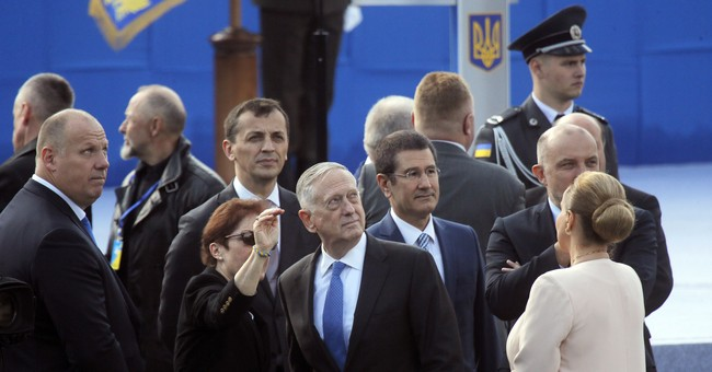 Tough talk on Russian Federation as Poroshenko meets Mattis in Ukraine
