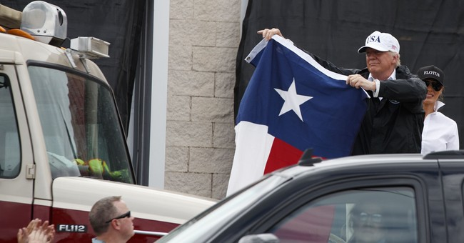 Trump Riles Up Crowd With Texas Flag: We Love You!