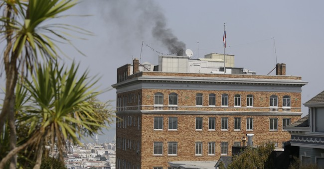 After Trump Orders Closure of San Francisco Consulate, Russians Start Burning 'Unidentified Items'