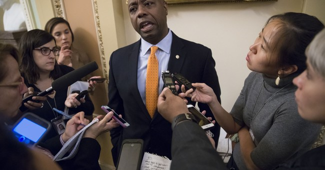 Tim Scott Denies Being 'Prop' for Tax Reform