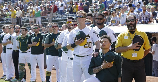 Leeching Into Baseball? Oakland As' Catcher Takes A Knee During National Anthem