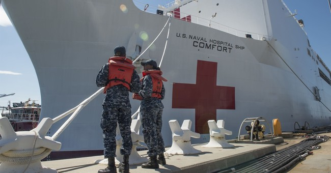 Trump Sends Off USNS Comfort as the Medical Ship Heads for New York