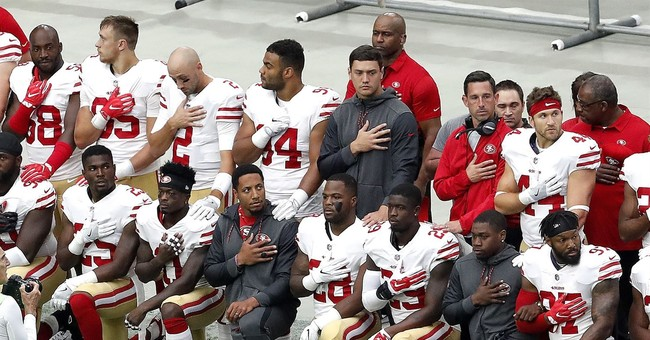 Peterson sees no end in sight to anthem protests""