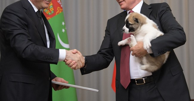 Turkmenistan's President Gave Vladimir Putin a Puppy For His Birthday
