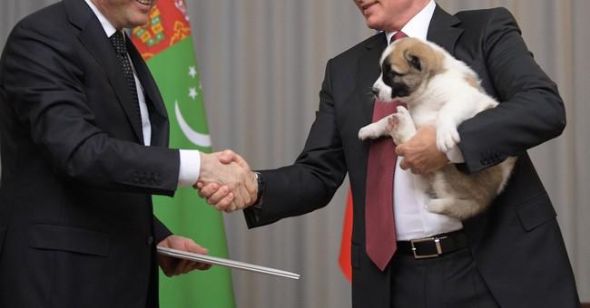 Turkmenistan's President Gave Vladimir Putin a Puppy For His Birthday