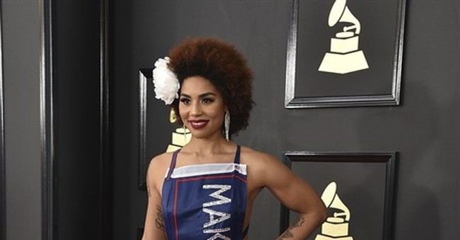 Singer Shows Up to Grammys in Make America Great Again Dress