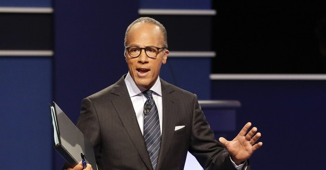 Lester Holt: Trump Made a 'Fair Point' About Dem Hypocrisy