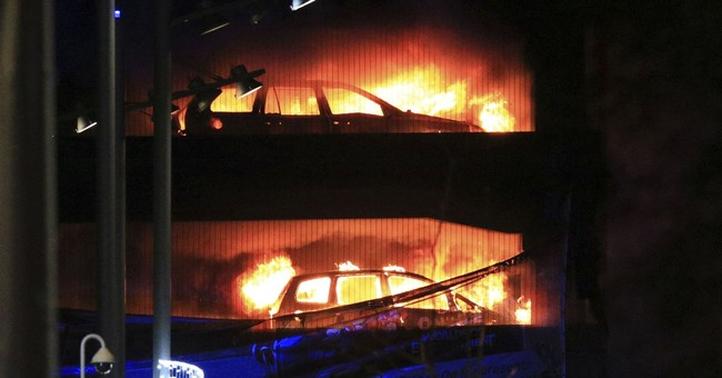 Parking garage fire destroys roughly 1,400  of cars in UK