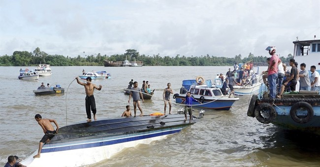 At least 8 dead as speedboat capsizes off Indonesia's Borneo