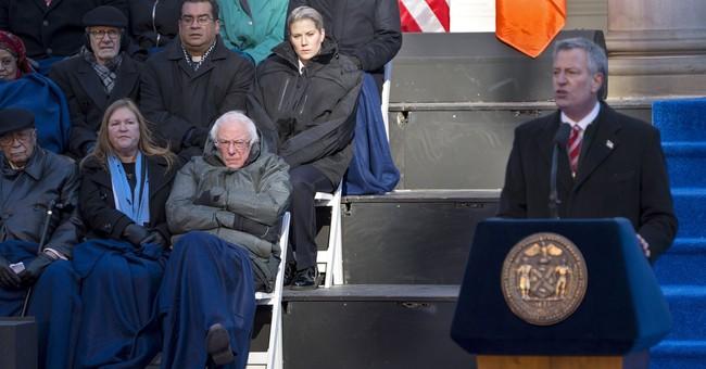 New York Mayor Bill de Blasio begins 2nd term at City Hall