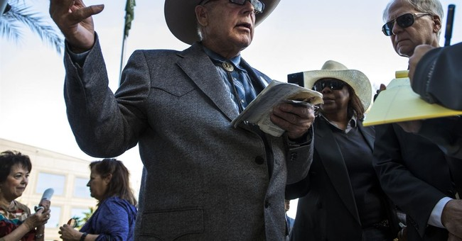 The Latest: Bundy says sheriff has land authority, not feds
