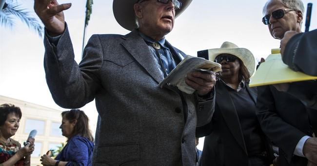 The Latest: Bundy says sheriff has land authority, not feds