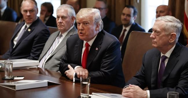 Trump reviews his own meeting; gives a big thumbs up