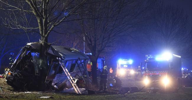 3 dead, 48 injured in bus crash near Czech capital of Prague