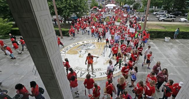 North Carolina teachers demand better funding in large march