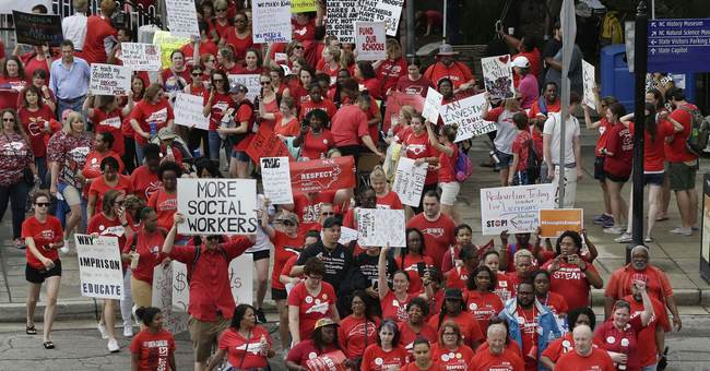 Gov. Cooper shows support of teachers during Raleigh rally