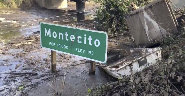 The Latest: Missing man found safe after California mudslide