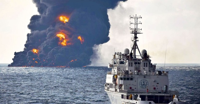 Oil spill from sunken tanker is expanding in East China Sea