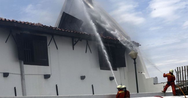 Fire rips through maritime museum in Indonesian capital