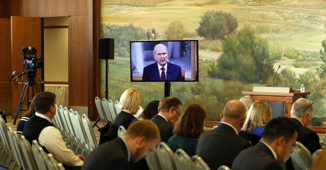 The Latest: Mormon president says room in faith for everyone