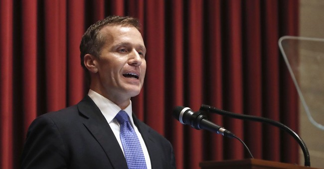 Missouri governor says affair won't deter him from work