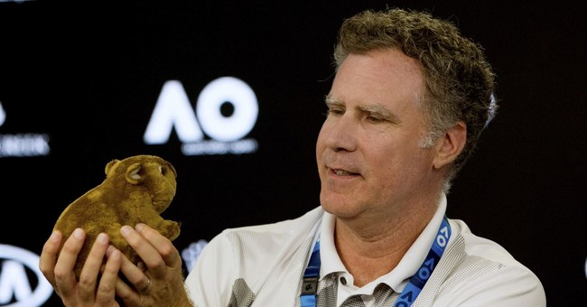 Comedian Will Ferrell brings laughs to the Australian Open