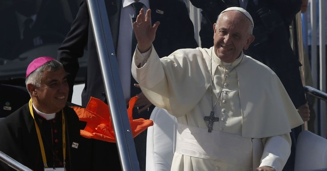 The Latest: Francis arrives in Peru for 4-day visit
