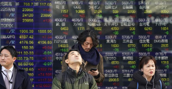 Global stocks mostly higher on strong Chinese growth