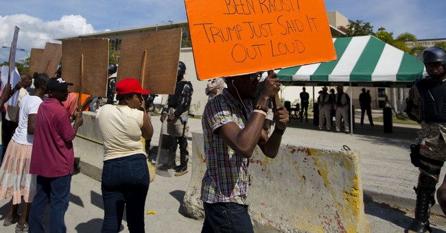 Protesters in Haiti condemn Trump remarks at embassy protest
