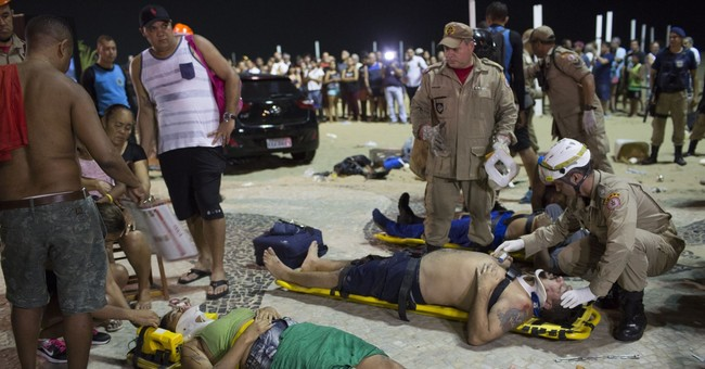 Car drives into crowd at Copacabana Beach in Rio; 15 hurt