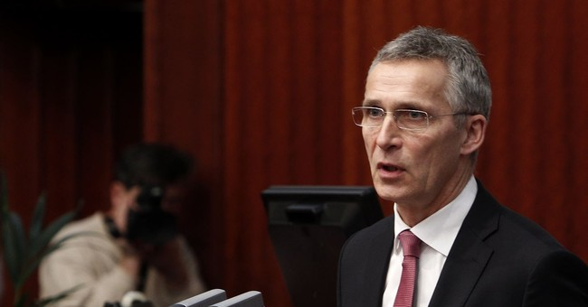NATO head urges Macedonia to end dispute with Greece, reform