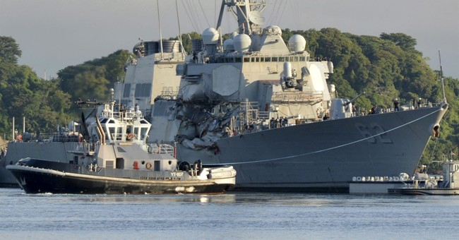 Damaged Navy ship arrives in Mississippi for repairs