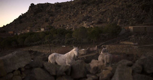 AP PHOTOS: Horses leap through fire in old Spanish festival