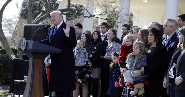 The Latest: Trump says he's committed to protecting life