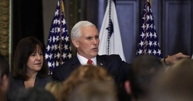 The Latest: VP Pence greets troops in Ireland