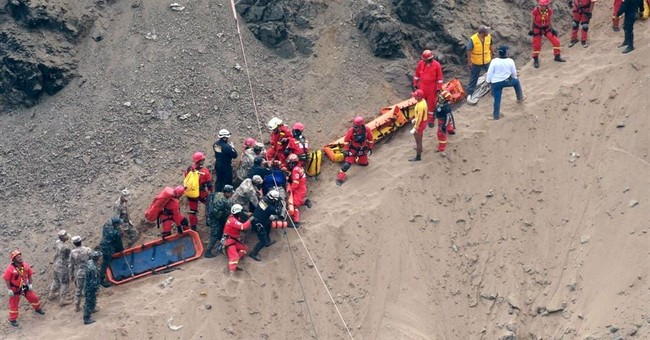 Death toll rises to 51 from bus plunging over cliff in Peru