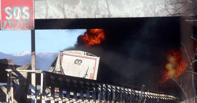 Highway crash in northern Italy kills 6 when tanker ignites