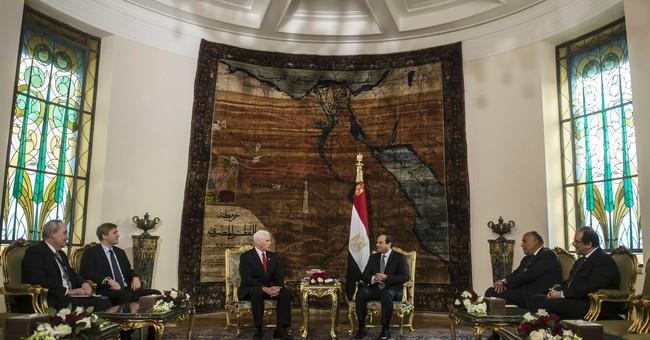 VP Pence says US stands 'shoulder to shoulder' with Egypt