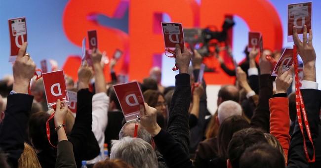 German Social Democrats OK coalition talks with Merkel bloc