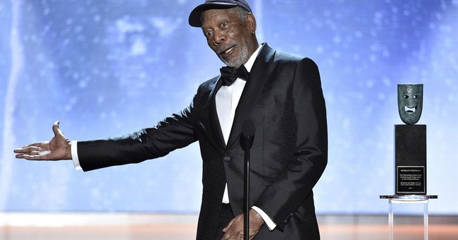 Morgan Freeman accepts life achievement honors at SAG Awards